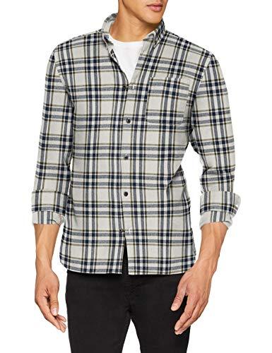 JACK & JONES Herren Freizeithemd JORCHRIS Shirt LS ONE Pocket Mehrfarbig (Forest Night Fit:Slim/Check) Medium