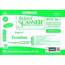 Solved Scanner CA IPCC Group-I Paper-4 Taxation