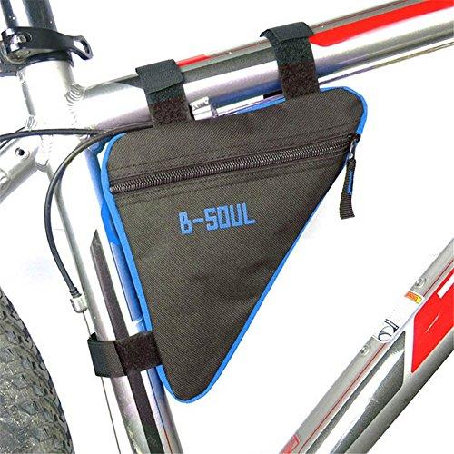 Triangle Radfahren Fahrrad Frontseiten Schlauch Rahmen Beutel wasserdichter Beutel Triangle Mountain Bike Sattel Beutel Beutel Halter Blau