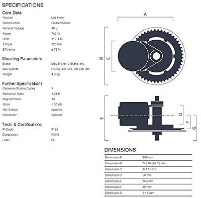 BBS02 48V 750W Bafang Mittelmotor Kit - kompletter Umbausatz mit integriertem Controller