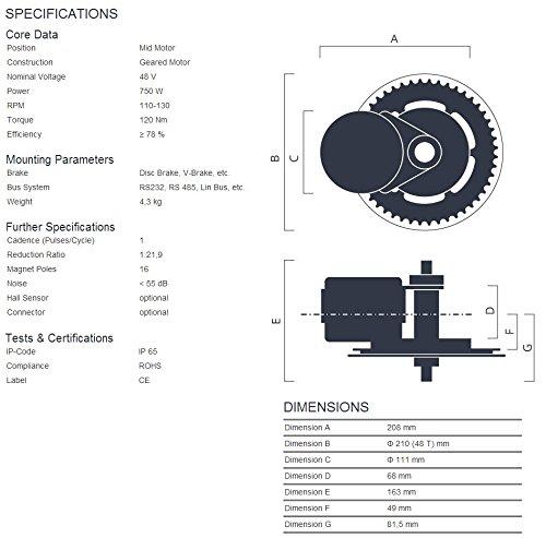 51GAY7eYtgL - 48V 750W 8Fun Bafang Mid-Drive Motor Conversion Kits with integrated Controller and LCD Display