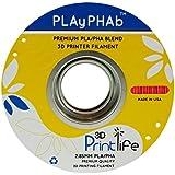 3D Printlife PLAyPHAb 2,85mm Rot PLA/PHA Mischung 3D-Drucker Filament, Maßhaltigkeit <+/- 0,05 mm, Rot - gut und günstig