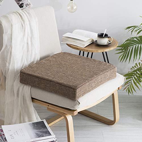 OIIJCKF Indoor Outdoor-Schwamm zu verstärken und abnehmbaren büro Stuhl Auto sitzkissen -E 40x40cm(16x16inch)