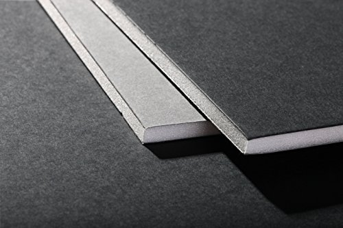 Clairefontaine 93624C Packung (mit 20 Schaumkartons, DIN A2, 42 x 59 cm, 5 mm, ideal für Modellieren und Dekorationsarbeiten, leicht und einfach zu bearbeiten, chlorfrei) 20er Pack grau / schwarz 20 X 42 Satin