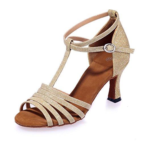 Scarpe Da Ballo Delle Donne Scarpe Di Pratica / Sala Da Ballo / Cuoio Moderno / Sequins Spumanti golden