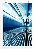 Best for home Artprints - Künstlerische Fotografie – Fahrsteig in Blau- Fotodruck in gestochen scharfer Qualität