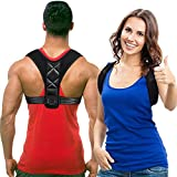 Travel Lovers Posture Corrector für Frauen & Männer & Kinder, maximale Unterstützung Best Fully Adjustable Back Brace Support Gürtel zur Verbesserung der Slouching und Buckel (Med)