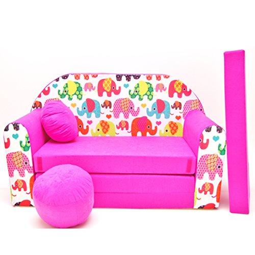Barabike H9-a Bébés pour Enfants Mini Canapé bébé Canapé lit Pouf Lot de 3 en 1 d'oreillers en Mousse