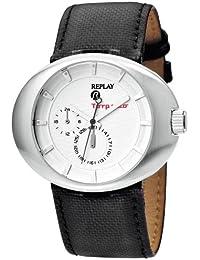 Replay RX5201AH - Reloj de mujer de cuarzo, correa de piel color negro