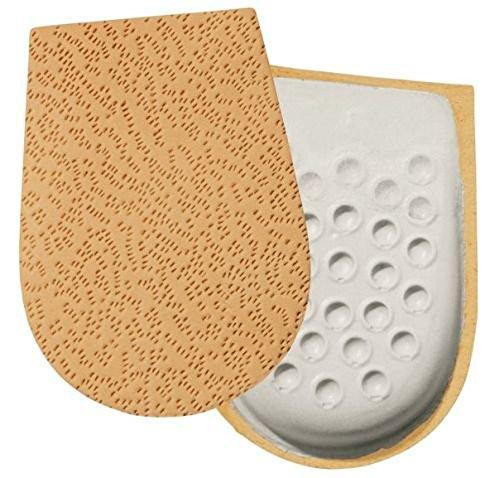 Preisvergleich Produktbild YOURSTEP Leder-Fersenbett / Ferseneinlagen - Größe 41-43 für Sie und Ihn - (Schuheinlagen)