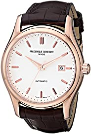 Frederique Constant Clear Vision Men'S Silver Dial Leather Band Watch - Fc-303V