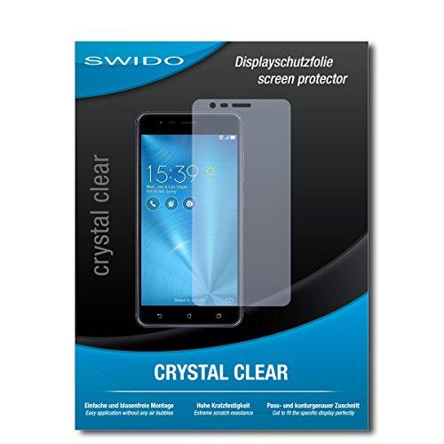 SWIDO Bildschirmschutz für Asus Zenfone Zoom S [4 Stück] Kristall-Klar, Hoher Härtegrad, Schutz vor Öl, Staub & Kratzer/Schutzfolie, Bildschirmschutzfolie, Panzerglas Folie