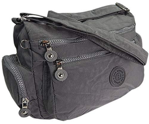 ekavale® Moderne damen Schultertasche für Shopper Freizeit Mittelgroß Umhägetasche für Frauen (Grau) -