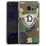 HTC U Ultra Hülle Case Handyhülle Sg Dynamo Dresden Logo Camouflage