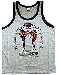 Unisex Jerseys camiseta deporte Muay Thai Lucha algodón gris tamaño xxl
