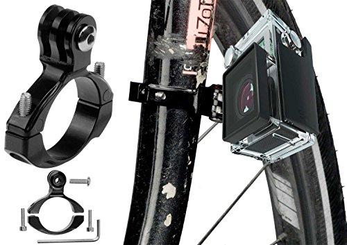 yayago GoPro Fahrrad Rad Rohrklemme (Durchmesser von 28-32mm) Lenkerhalterung Rahmenhalter mit Inbusschlüßel für GoPro Hero7 [ Silver, White, Black ] -