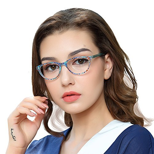 bbf92ce601 OCCI CHIARI Colored Stylish Glasses Frame Non-Prescription Eyewear Frame  with Clear Lenses Gifts for