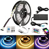 FVTLED 5M Zwei Reihen LED Streifen Lichterkette (RGB+Warmweiß) 600 LEDs (SMD 5050) Led Band Lichtleiste Mit Wifi Fernbedienung,10A 120W Netzteil Trafo
