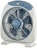 Howell VEB341MQ Box Fan con Timer, 40 Watt, Bianco/Blu, 30 cm