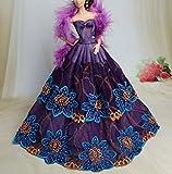 Mode magnifique robe de soirée à la main pour la poupée d'occasion  Livré partout en France