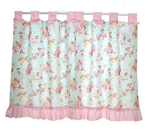 Set di 2 tendine per finestra valance pastorable pink peony bowknot 130x100cm