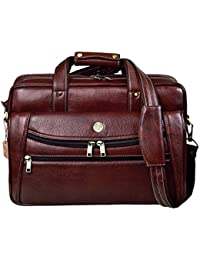 Hammonds Flycatcher Original Bombay Brown Leather 15.6 inch Laptop Messenger Bag (L=39,B=9, H=27 cm) LB166