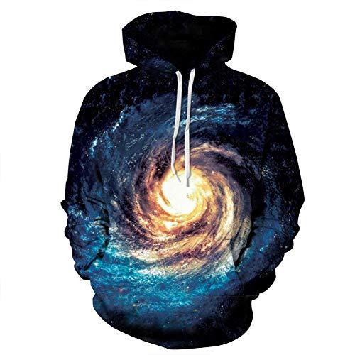 binglinshang 2019 männer/Frauen kreative 3D Sweatshirts Galaxy Star Swirl Nebula Digitaldruck frühling Herbst Casual Hoodies, s -