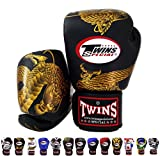 Twins special Muay Thai Guanti da boxe BGVL-3 Nero 8 – 10 – 12 – 14 – 16 oz, Uomo unisex donna Bambino, Chinese Dragon - Black/Gold, 16 oz