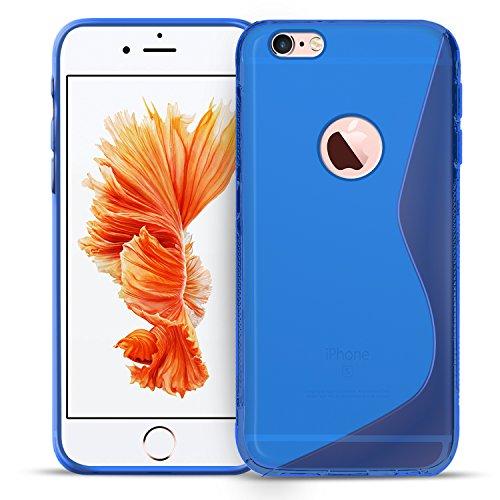 iPhone 7 Plus Silikon Hülle Case in Transparent Cover 7 Plus Schutzhülle Handyhülle Cover Silikonhülle Rückschale Blau