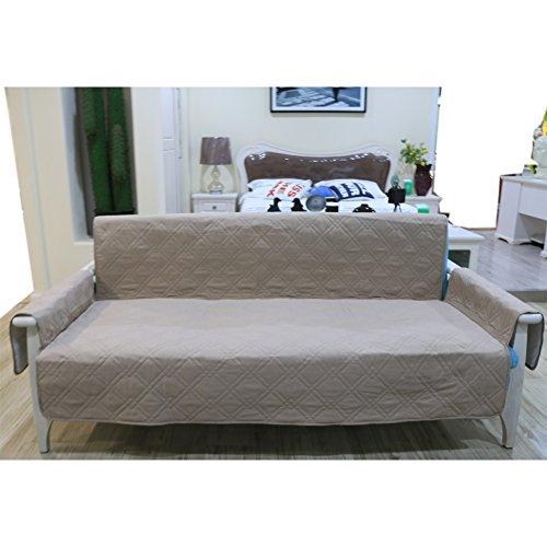 Rutschfeste 3-Sitzer-Sofa Tierpfotenmuster doppelseitig für Hunde/Katzen, Pongee Mikrofaser Pet Hund Couch Möbel, Sofa (Khaki)