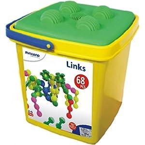 Miniland- Interstar Links (68 Piezas) Juego de construcción para niños, Multicolor (94012)
