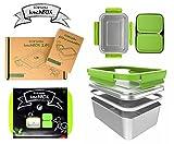 ECOtanka 2,0l Lunchbox mit grünem Verschlussrahmen 2X pocketBOX