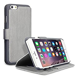 Terrapin Leder Tasche Case Hülle im Bookstyle mit Standfunktion Kartenfächer für iPhone 6S / iPhone 6 Hülle Grau (B00L0VPI8C) | Amazon price tracker / tracking, Amazon price history charts, Amazon price watches, Amazon price drop alerts