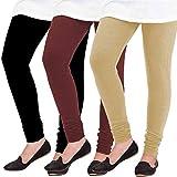 Woolen Leggings for Women, Winter Bottom Wear Combo Pack of 3 - Free Size