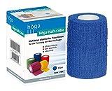 Höga-Haft-Color blau 8 cm x 4 m gedehnt, kohäsive (selbsthaftende) elastische Fixierbinde, 2er Pack (2 x 1 Stück)