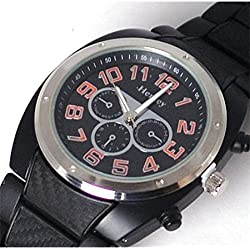 Henley schwarze Herren Sportuhr mit imitierten Chronographen
