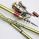 Angelruten-Kit, Spinning Rod Und Reel Combos 12BB Kohlenstoff Angelrute 96 Cm Meer Frisches Wasser,6.3M