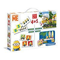Clementoni-134748-Edu-Kit-4-in-1-Minions-Memo-Domino-Puzzle Clementoni 13474.8 – Edu Kit 4 in 1 Minions – Memo, Domino, Puzzle -