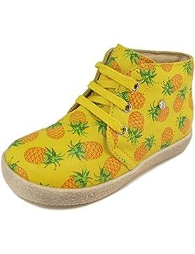 Naturino - Zapatos primeros pasos de Piel para niña Amarillo amarillo