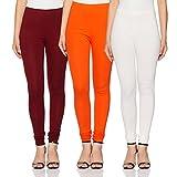 Amazon Brand- Myx Women's legging Bottom (Pack of 3)(LEGP03OFOM_Multi-colored_L)