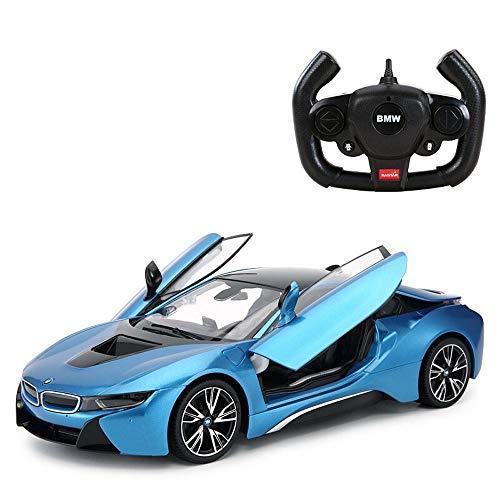 Ycco Elektrische 2,4 GHz RC-Fahrzeug Fernbedienung Auto Kinder Spielzeug Fahrzeuge for Jungen Mädchen mit Arbeitsscheinwerfer - PL9422 lizenzierte elektrische Waage Modell for Indoor-Outdoor-Spiel, bl