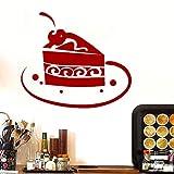 Un gâteau Au Chocolat Mur Art Stickers Pour Cuisine Restaurant Moderne Amovible Étanche Papier Peint Vinyle Sticker Mural Pour La Décoration Intérieure ~ 1 44 * 38 cm