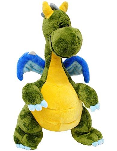 """großes Plüschtier - """" Drache / Dino - gelb """" - 29 cm - superweich - Stofftier / Drachen - Plüschdrache - Dinosaurier / Urzeit - Kuscheltier Plüschdrachen - groß Knuddeltier - süßer Plüschdino - Schmusedino / Stoffpuppe - Plüschdinosaurier - Schmusetier - Schmusedino - Dinos / Stoffdino - grün"""