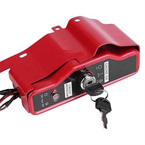 Preisvergleich Produktbild Fdit Elektrischer Zündschloss Motorteile Kasten mit 2 Schlüsseln für Honda GX390 13HP GX340 11HP 168F GX160 Gas Motor
