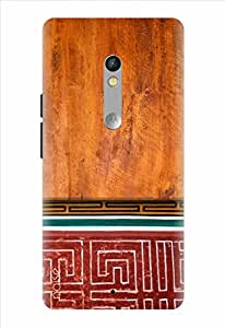 Noise Designer Printed Case / Cover for Motorola Moto X Play / Patterns & Ethnic / Trace On Red Design