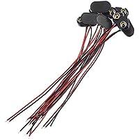 Tonver - Juego de 8 Conectores Tipo T de 9 V para Cable de Batería, Color Negro y Rojo