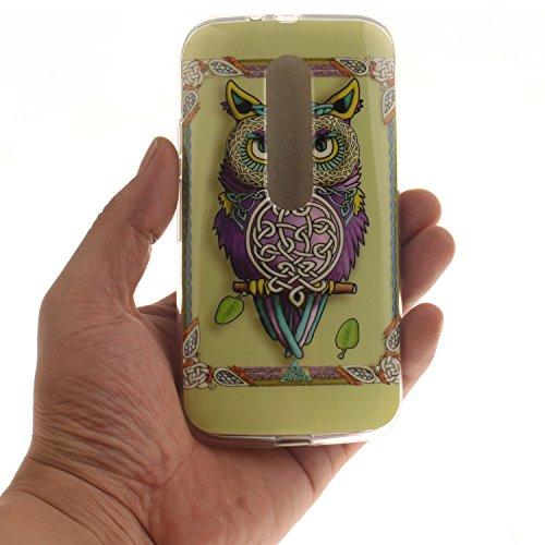 Nancen Motorola Moto G3 (5,0 Zoll) Ultra Slim Weich TPU Material Design Silikon Handytasche Schutzhülle, Painted Mode Anti-Kratz Handyhülle Case Hülle Backcover Tasche