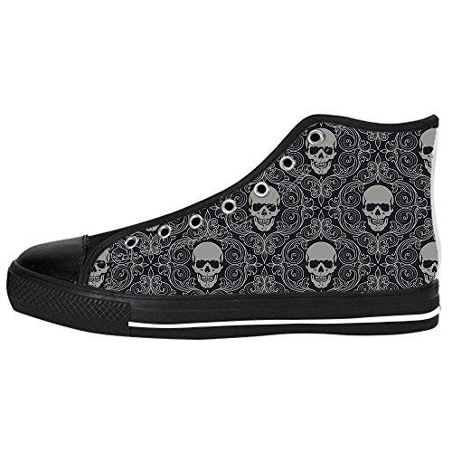 Dalliy Flower Sugar skull Men's Canvas shoes Schuhe Lace-up High-top Sneakers Segeltuchschuhe Leinwand-Schuh-Turnschuhe E