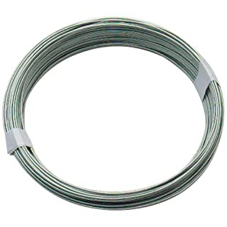 Bulk Hardware BH00325 Galvanised Coated Garden Wire, 1.25mm x 50 Metres (162.5ft) 16 Gauge 3/64 inch Thickness