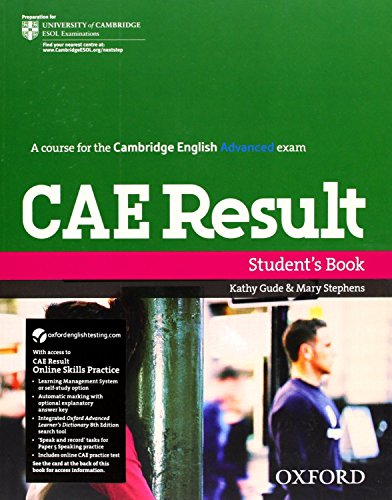 CAE Result Student's Book and Online Skills Practice Pack (Cambridge Advanced English (Cae) Result)